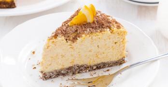 Tarta de Queso y Naranja con Chocolate