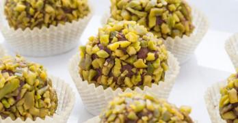 Bombones de Chocolate con Pistachos