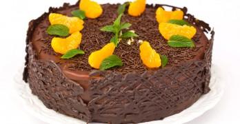 Tarta de Chocolate y Mandarina