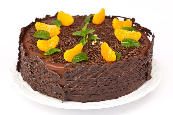 Tarta de chocolate y mandarina - Postre con mandarinas ...