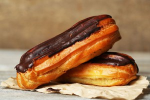 Éclairs con Chocolate