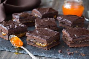 Brownies de Chocolate y Albaricoque