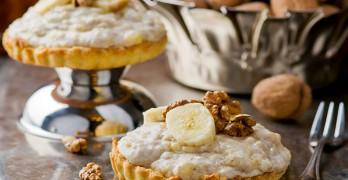 Tartaletas de Crema de Plátano y Nueces